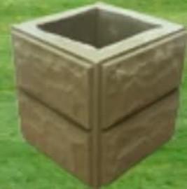 Ogrodzenie słupki z kamienia łupanego kamień elewacyjny