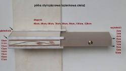 półka styropianowa łazienkowa, stelaż 100x13x5cm