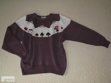 Stylowy, zimowy sweterek damski, rozm. L