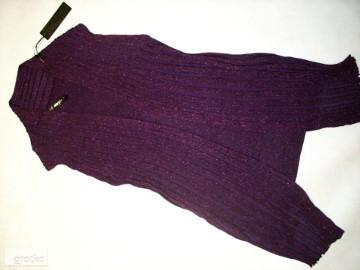 KAMIZELKA sweterek Narzutka NOWA Błyszcząca Nić M L XL