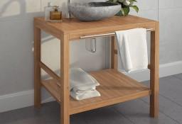 vidaXL Szafka łazienkowa pod umywalkę, lite drewno tekowe, 74x45x75 cm246492