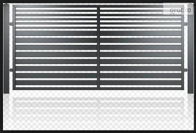 Przęsło ogrodzeniowe, nowoczesny design, panel ogrodzeniowy D-03