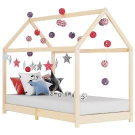 vidaXL Rama łóżka dziecięcego, lite drewno sosnowe, 70 x 140 cm 283346
