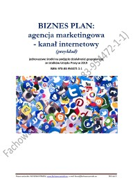 BIZNESPLAN agencja marketingowa – kanał internetowy 2019 (przykład)