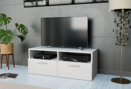 vidaXL Szafka pod TV z płyty wiórowej, 95 x 35 x 36 cm, biała 244867
