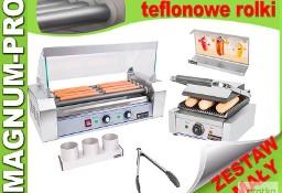 Mały zestaw do HOT-DOGÓW podgrzewacz + grill + akcesoria Teflon