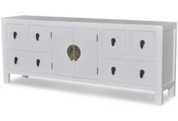 vidaXL Drewniana komoda azjatycka z 8 szufladami i 2 drzwiami 241733