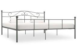 vidaXL Rama łóżka, szara, metalowa, 200 x 200 cm 284536