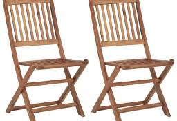 vidaXL Składane krzesła ogrodowe, 2 szt., lite drewno akacjowe 46339