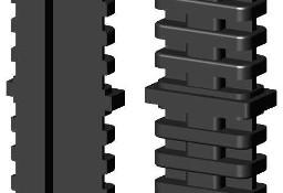 Łącznik plastikowy do profili aluminiowych typ I 40x20, czarny, składany 40x20x2