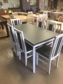 stół + 6 krzeseł w nowoczesnym stylu
