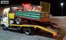 Transport laweta maszyn rolniczych ciągników rozrzutników przyczep