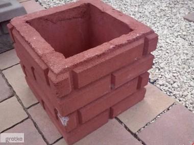 Ogrodzenie słupki z kamienia łupanego cegiełka 25x25x25-1