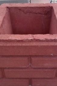 Ogrodzenie słupki z kamienia łupanego cegiełka 25x25x25-2