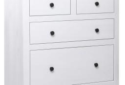 vidaXL Szafka, biała, 80 x 40 x 83 cm, drewno sosnowe, seria Panama282657