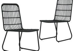 vidaXL Krzesła ogrodowe, 2 szt., polirattan, czarne48584