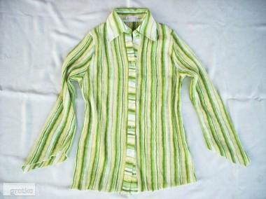 ŚLICZNA bluzka Koszula Plisowana Wiosna j NOWA 40 42 L XL-1