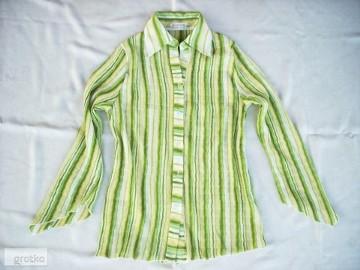 ŚLICZNA bluzka Koszula Plisowana Wiosna j NOWA 40 42 L XL