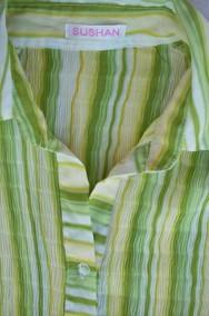 ŚLICZNA bluzka Koszula Plisowana Wiosna j NOWA 40 42 L XL-3