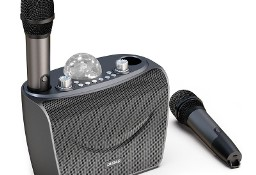 Zestaw do karaoke bluetooth 2x mikrofon + bezprzewodowy głośnik