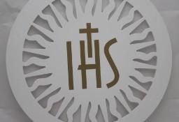 Biała Hostia IHS , dekoracje na Boże Ciało, Pierwsza Komunia