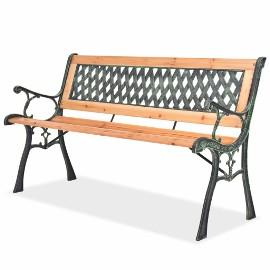 vidaXL Ławka ogrodowa, 122 cm, drewniana 40262