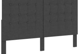 vidaXL Tuftowane wezgłowie, ciemnoszare, obite tkaniną, 180x200 cm287474