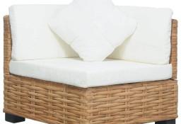 vidaXL Narożna sofa z poduszkami, naturalny rattan286279