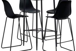 vidaXL 5-częściowy zestaw mebli barowych, plastik, czarny279922
