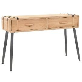 vidaXL Stolik konsola, lite drewno jodłowe, 115 x 40,5 x 76 cm 245772