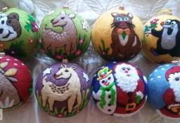 Bombki świąteczne wykonane z filcu - Okazja - nietłukące się