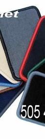 Peugeot 806 1994-2002 3 rzędy najwyższej jakości dywaniki samochodowe z grubego weluru z gumą od spodu, dedykowane Peugeot 806-3