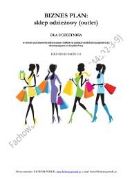 BIZNESPLAN na założenie sklepu odzieżowego (outlet) 2011