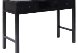vidaXL Biurko, czarne, 110 x 45 x 76 cm, drewniane284158