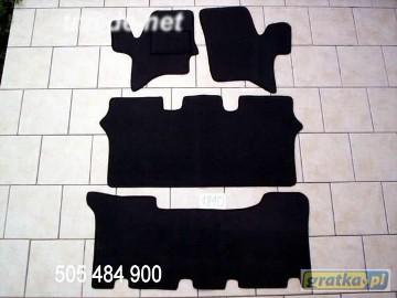 Nissan Serena 1992-2000 3 rzędy najwyższej jakości dywaniki samochodowe z grubego weluru z gumą od spodu, dedykowane Nissan Serena