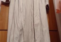 (40/L) Ekskluzywny, długi, różowy płaszcz z Londynu/ narzutka/ NOWY