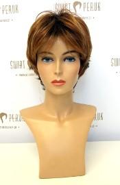 Peruka krótka z włosów syntetycznych w odcieniach rudości Tarnobrzeg