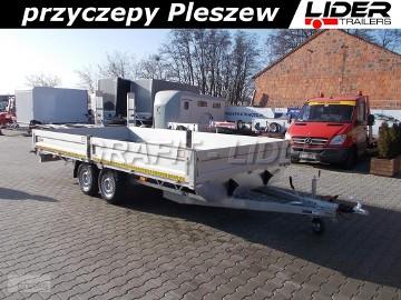 LT-096 przyczepa 500x245x40cm, platforma, uniwersalna, burty aluminiowe, DMC 3500kg
