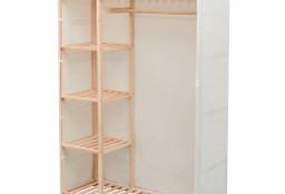 vidaXL Szafa z drewna sosnowego i tkaniny, 110 x 40 x 170 cm 42976