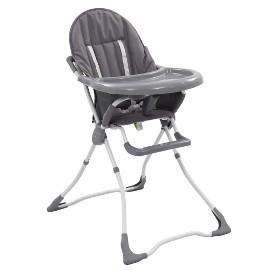 vidaXL Krzesełko do karmienia dzieci, szaro-białe10185