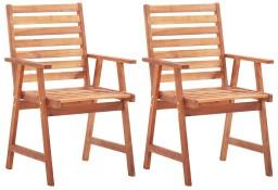 vidaXL Krzesła ogrodowe, 2 szt., lite drewno akacjowe46312