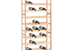 vidaXL Stojak na 77 butelek wina, drewno sosnowe286197