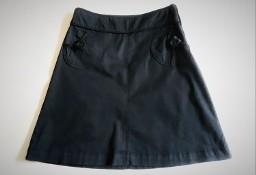 Czarna spódnica z zapinanymi kieszeniami  40  bawełna  H&M