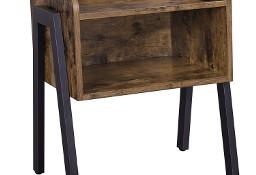 Stolik boczny, szafka nocna z wnęką - styl industrialny, loft