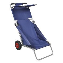 vidaXL Przenośny wózek i krzesło w jednym, składany, niebieski 90446