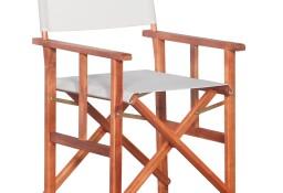 vidaXL Krzesło reżyserskie, lite drewno akacjowe 45596