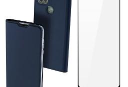 Etui DUX DUCIS + szkło pełne do Motorola Moto G9 Power niebieski