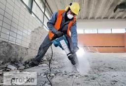 Skuwanie Glazury płytek tynku betonu, Wyburzanie ścian ,rozbiórka