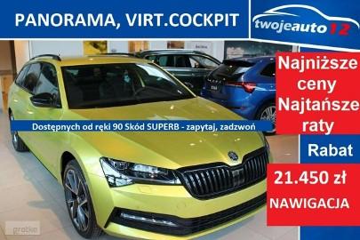 Skoda Superb III Sportline 2.0 TDI 190KM DSG, Pakiet Comfort, ACC 21, Okno panoramicz