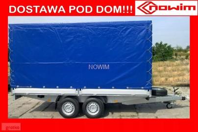 15.434/3 Nowim przyczepa Niewiadów uniwersalna europaletowa towarowa hamowana ciężarowa burtowa plandekowa spedycyjna z plandeką i ...